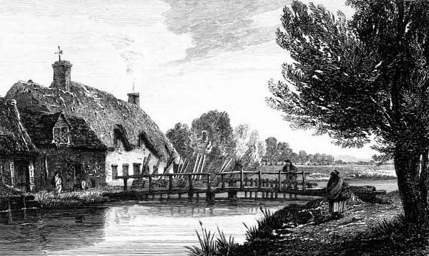 Scene from 1811 - radcot lock - thames