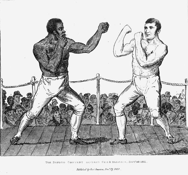 1811 - 19th Century Boxers Topless Sketch
