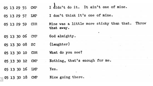 Apollo 10 - Floating Waste Transcript 2