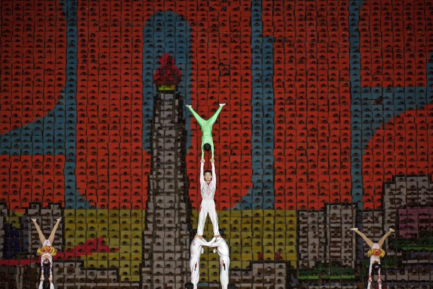 Arirang - Mass Gymnastics - North Korea - performers gymnastics
