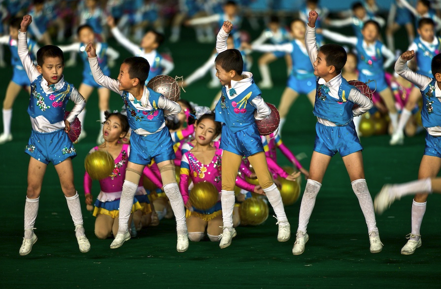 Arirang - Mass Gymnastics - North Korea - performers youngsters