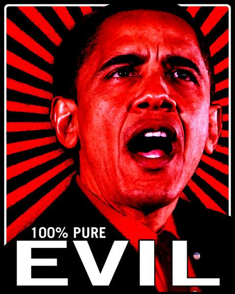 Evil Obama - shape shifting alien conspiracy
