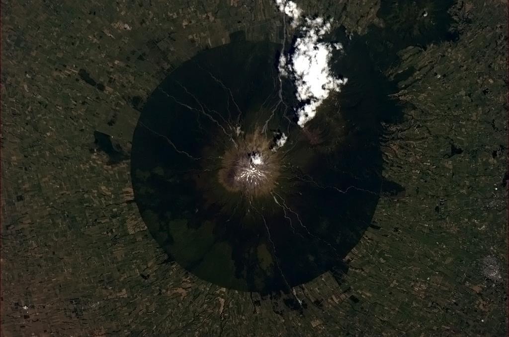 ISS - Taranaki Volcano