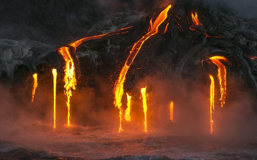 Kayak Volcano Hawaii Kauai - Molten Lava