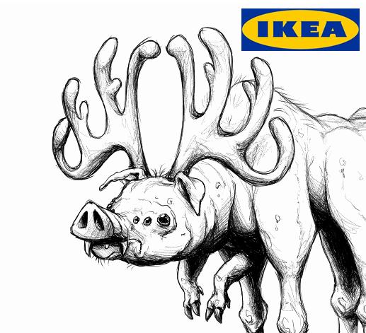 Pig Moose IKEA