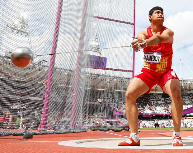 Turkmenistan - 2012 Olympics - Mergen Mamedov - Hammer
