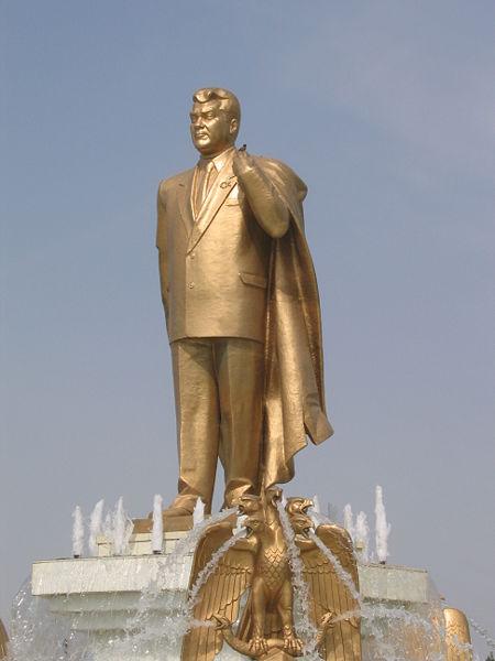 Turkmenistan Golden Niyazov Statue