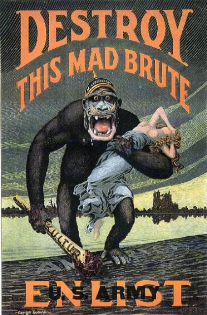 American WWII Poster destroy this mad brute