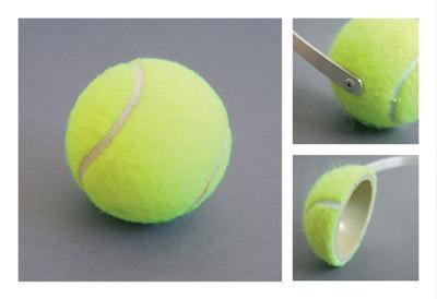 Extreme Repurposing - Tennis Ball Ear Muffs - Parts