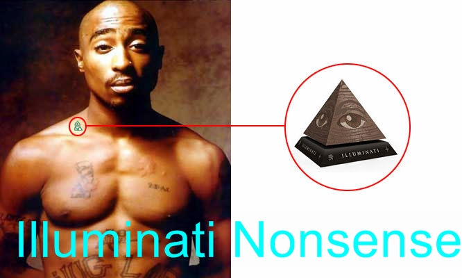 Tupac Illuminati Tattoo