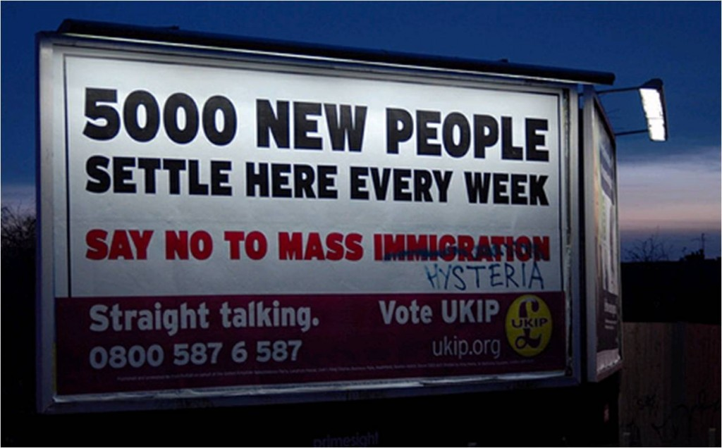UKIP Immigration Poster Altered - Hysteria
