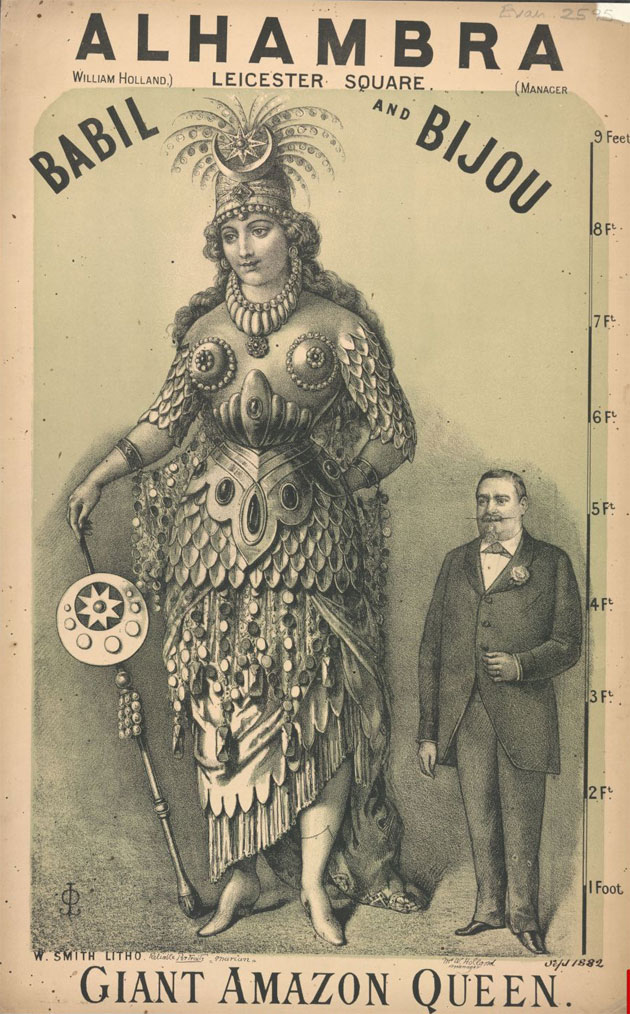 Victorian Freak Show Posters - Babil & Bijou - Giant Amazon Queen