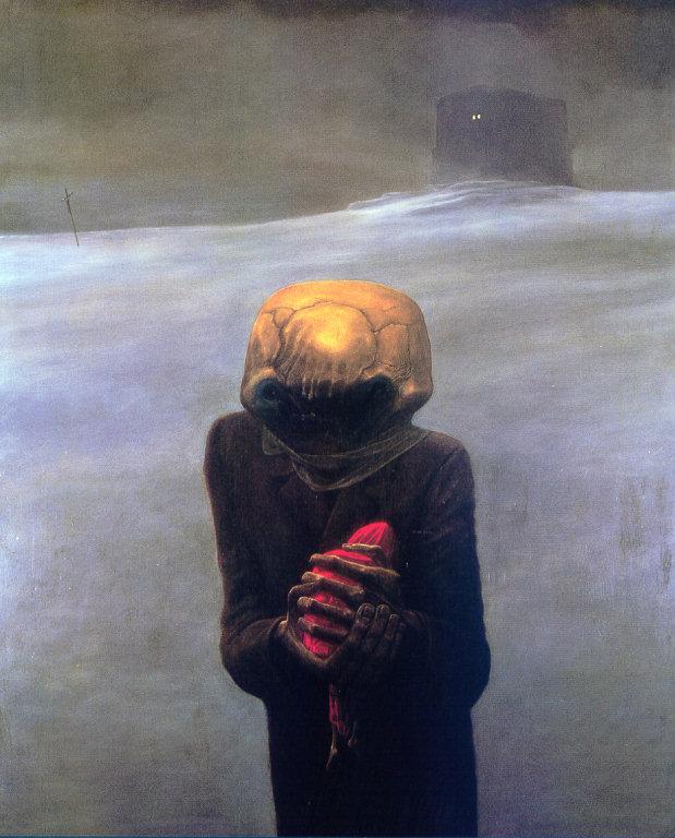 Zdzisław Beksiński - dark alien