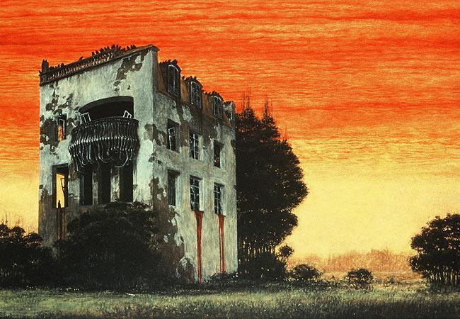 Zdzisław Beksiński - derelict house
