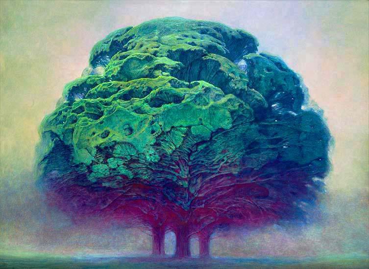 Zdzisław Beksiński - tree