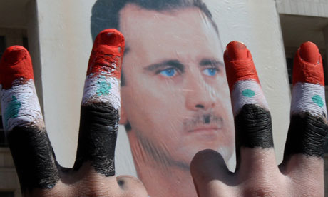 Assad Syria Peace Sign