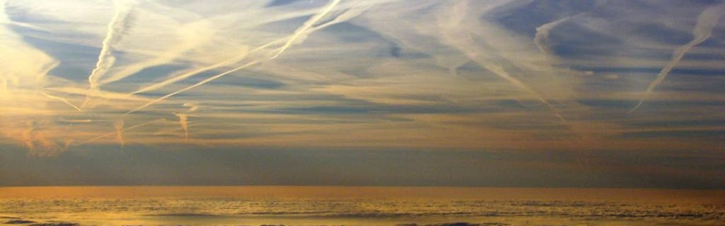 Chemtrails Evidence - Sunset at sea