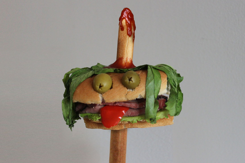 Kasia Haupt - Sanwich Art Sculpture - Impaled