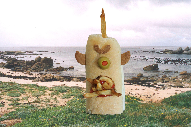 Kasia Haupt - Sanwich Art Sculpture - Totem Monster