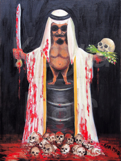 Kaya Mar - Death Of The Arab Spring - Political Painting