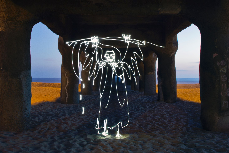 Light Paintings - Darren Pearson - Grim Reaper - Manhatten Beach