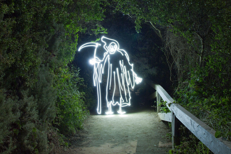 Light Paintings - Darren Pearson - Grim Reaper - Pasadena