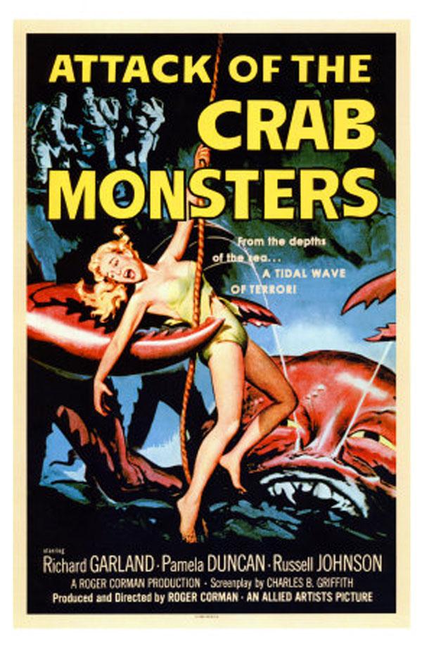 Old Horror Films - Retro Film Posters - Attack Of The Crab Monsters