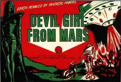 Old Horror Films - Retro Film Posters - Devil Girl From Mars