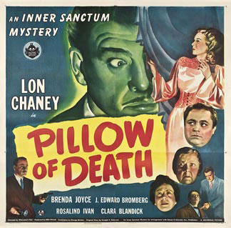 Old Horror Films - Retro Film Posters - Pillow Of Death