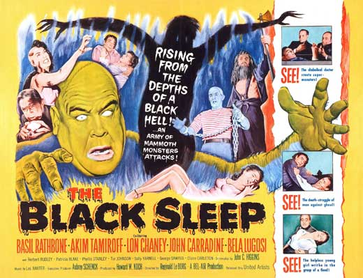 Old Horror Films - Retro Film Posters - The Black Sleep - Full