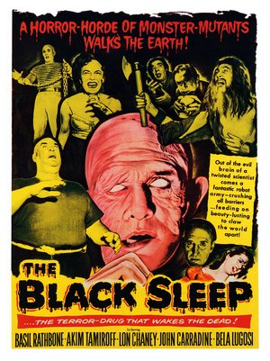 Old Horror Films - Retro Film Posters - The Black Sleep