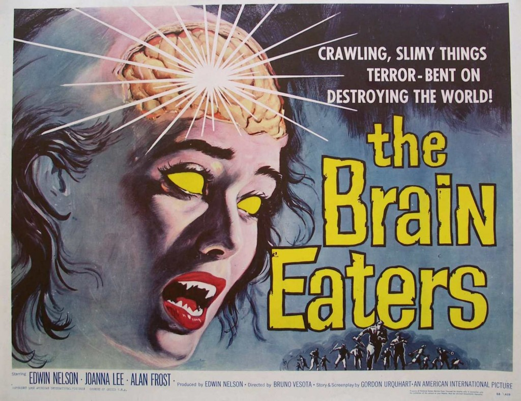 Old Horror Films - Retro Film Posters - The Brain Eaters