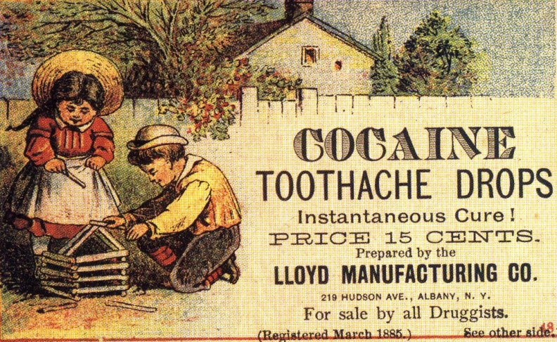 Sexist Racist Mental Vintage Adverts - Cocaine Tooth Ache Drops