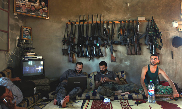 Syrian Rebels Down Time