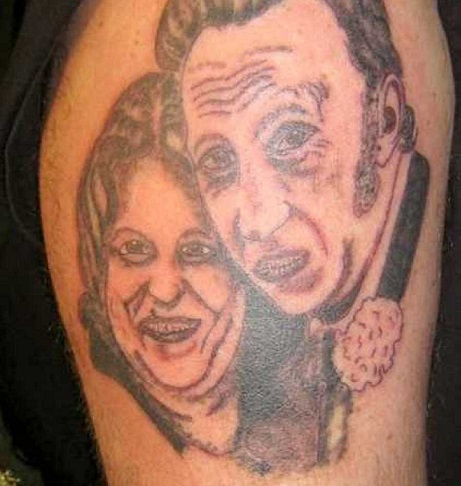 Terrible tattoo awards 2013 - couple portrait