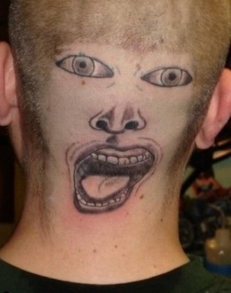 Terrible tattoo awards 2013 - weird face