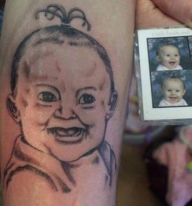 Terrifying baby tattoos - ketamine