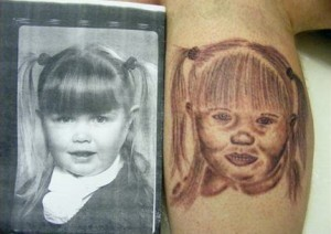 Terrifying baby tattoos - murderous