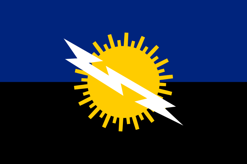 Catatumbo lightning - Venezuela - Flag of Zulia State