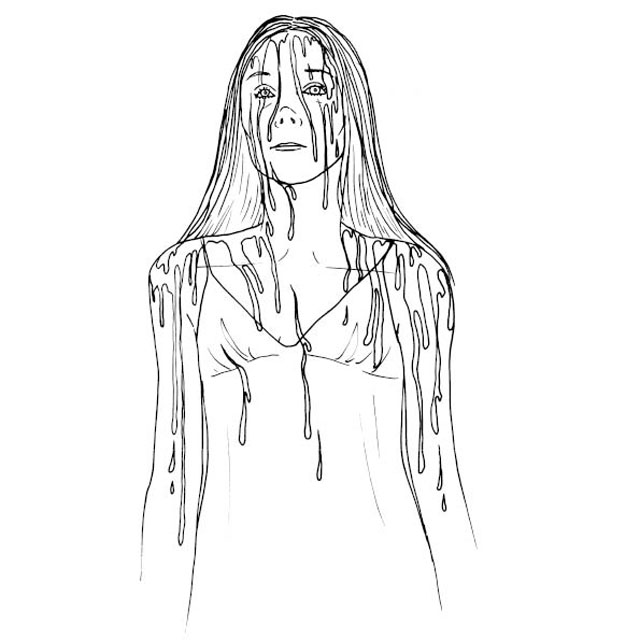 Colour Me Good Arrggghhhh - Horror Colouring Book - Carrie