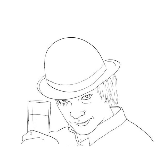 Colour Me Good Arrggghhhh - Horror Colouring Book - Clockwork Orange