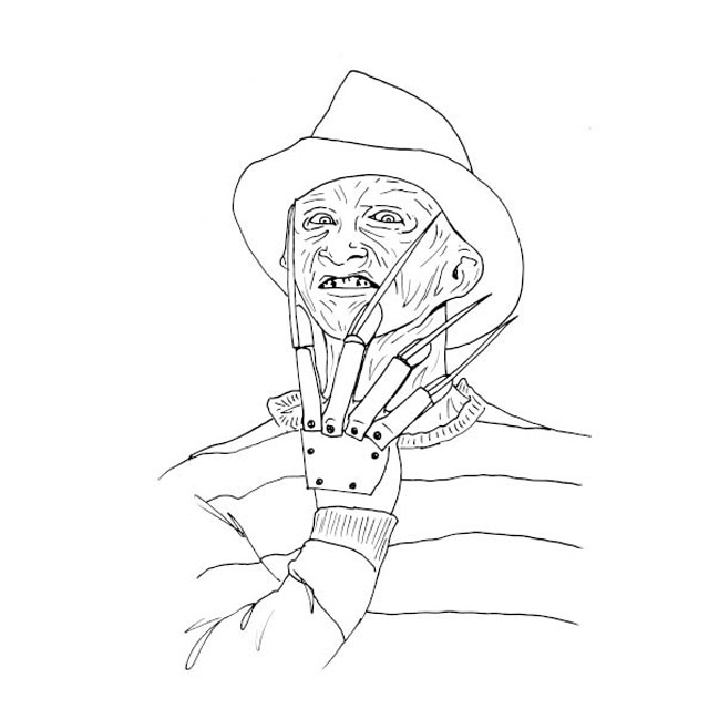 Colour Me Good Arrggghhhh - Horror Colouring Book - Freddy Kruger