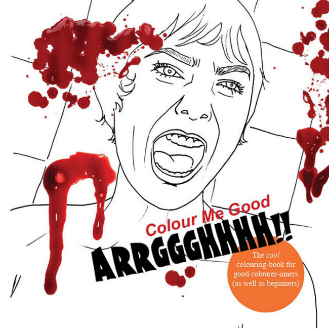 Colour Me Good Arrggghhhh - Horror Colouring Book - Front Cover