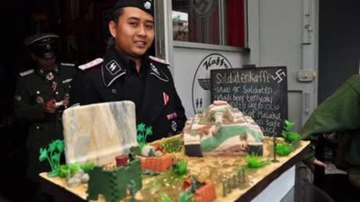 Indonesian Nazi Hitler Cafe - SS Memorobilia Kaffe