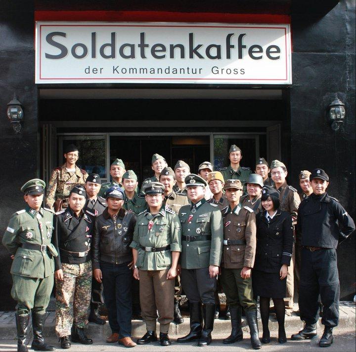 Indonesian Nazi Bar Come Reich In Lazer Horse