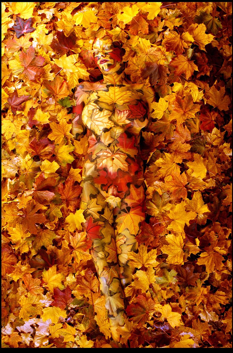 Johannes Stoetter - Body Painting Champion - Leaves