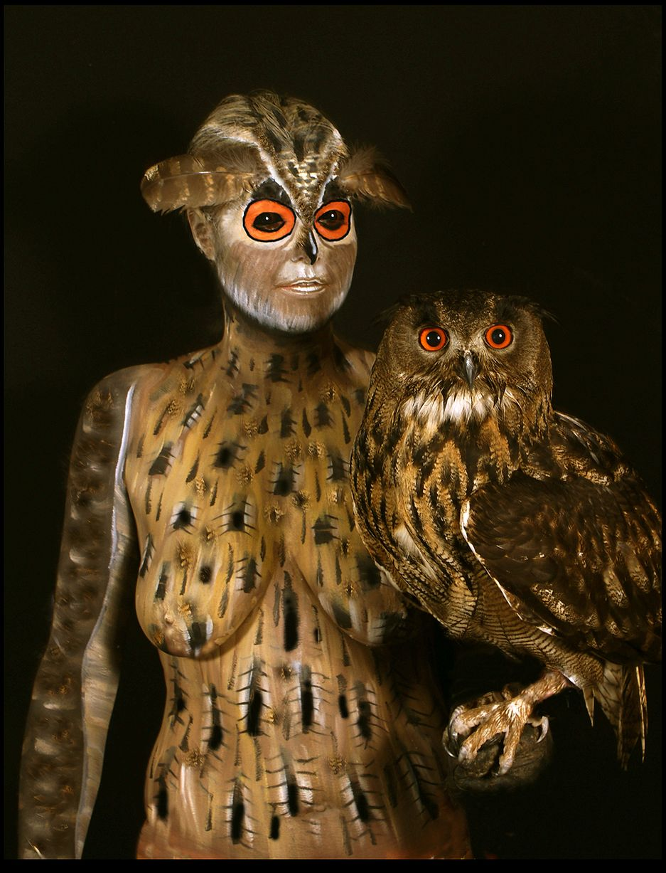 Johannes Stoetter - Body Painting Champion - Owl