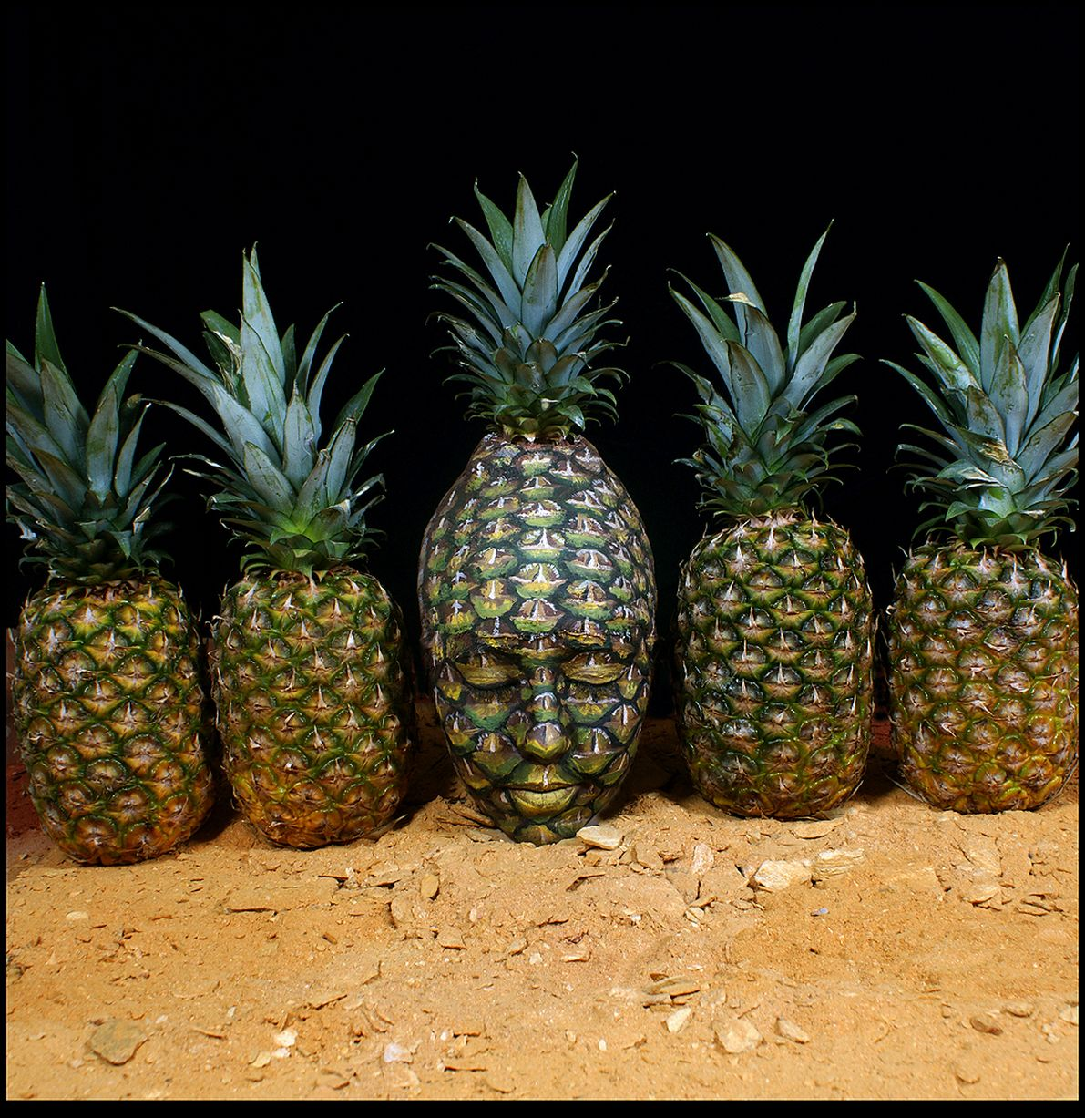 Johannes Stoetter - Body Painting Champion - Pineapple