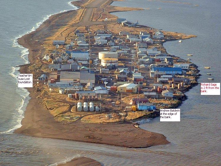 Kivalina - Alaska - Aerial View - House Labels