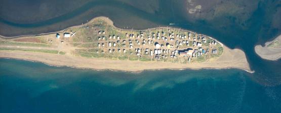 Kivalina - Alaska - Aerial View - Satellite Image